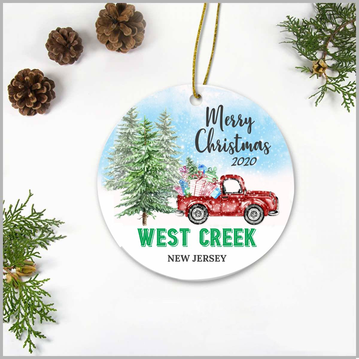 New Jersey Christmas Decorations 2020 Customize Christmas Ornament 2020 West Creek New Jersey Christmas